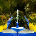 Fountain In Jardin Majorelle Morocco by Beth Riser