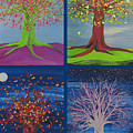 Four Seasons Trees By Jrr by First Star Art