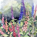 Foxgloves by Val Stokes
