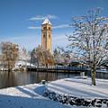Fresh Snow In Riverfront Park - Spokane Washington by Daniel Hagerman