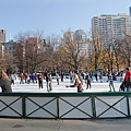 Frog Pond Skating Rink Boston Common by Thomas Marchessault