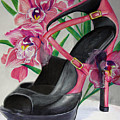 Fuchsia Orchid Colour Block by Karon Melillo DeVega