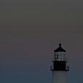 Full Moon Over Portland Headlight. by David Bishop