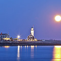 Full Moon Over Scituate Light by Susan Cole Kelly