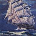 Full Sails Under Full Moon by Thomas Restifo
