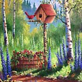 Garden Birdhouse by David G Paul