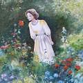 Garden Walk A by Val Stokes