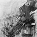Gare Montparnasse Train Wreck 1895 by Photo Researchers