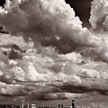 Gathering Clouds Over Lake Geneva Bw by Steve Gadomski