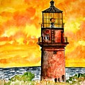 Gay Head Lighthouse Martha's Vineyard by Derek Mccrea
