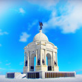 Gettysburg Memorial In Winter by Bill Cannon