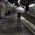 Girl At Subway Station by Joana Kruse