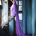 Girl On Staircase by Maryn Crawford