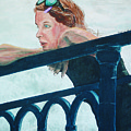 Girl On The Rail by Kevin Callahan