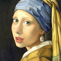 Girl With A Pearl Earring by Gretchen Matta