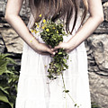 Girl With Flowers by Joana Kruse
