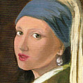 Girl With Pearl Earring Of Vermeer by Asha Sudhaker Shenoy