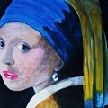 Girl With The Pearl Earring  by Tina Haeger