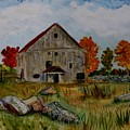 Glover Barn In Autumn by Donna Walsh