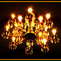 Glowing Chandelier With Border by Carol Groenen