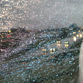 Glowing Raindrops In The City by Usha Shantharam