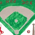 Go Red Sox by Rosemary Mazzulla