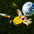 Goalkeeper In Action by Pamela Johnson