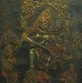 Goddess Kali Killing Demon by Bindu Bajaj