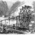 Gold Mining, 1860 by Granger