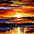 Gold Sunset by Leonid Afremov