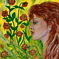 Golden Flora by Yelena Rubin