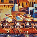 Golden Ganges by Art Nomad Sandra  Hansen