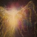 Golden Healing Angel by Naomi Walker