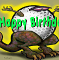 Golf A Saurus Birthday by Kevin Middleton