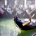 Gondola In Venice In The Morning by Michael Henderson