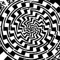 Gradient Tunnel Spin Maze by Yonatan Frimer Maze Artist