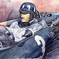 Graham Hill Brm P261 1965 by Yuriy Shevchuk