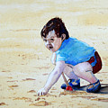Graham On The Sand by John Cox