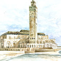 Grand Mosque Hassan II  Front Side by Efren Teves
