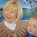 Grandma And Kaidin by Jerrold Carton