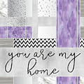 Graphic Art Silver You Are My Home - Violet by Melanie Viola