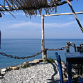 Greece Skiathos Kastro Taverna by Yvonne Ayoub