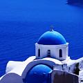 Greek Blue Vertical by Paul Cowan
