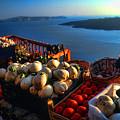 Greek Food At Santorini by David Smith