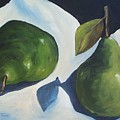 Green Pears On Linen - 2007 by Torrie Smiley