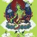 Green Tara by Carmen Mensink