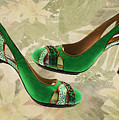 Green With Envy Pumps by Elaine Plesser