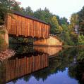 Greenfield Nh Covered Bridge by John Burk