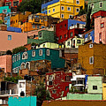 Guanajuato Hillside 4 by Mexicolors Art Photography