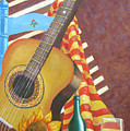 Guitar And Oranges by D T LaVercombe